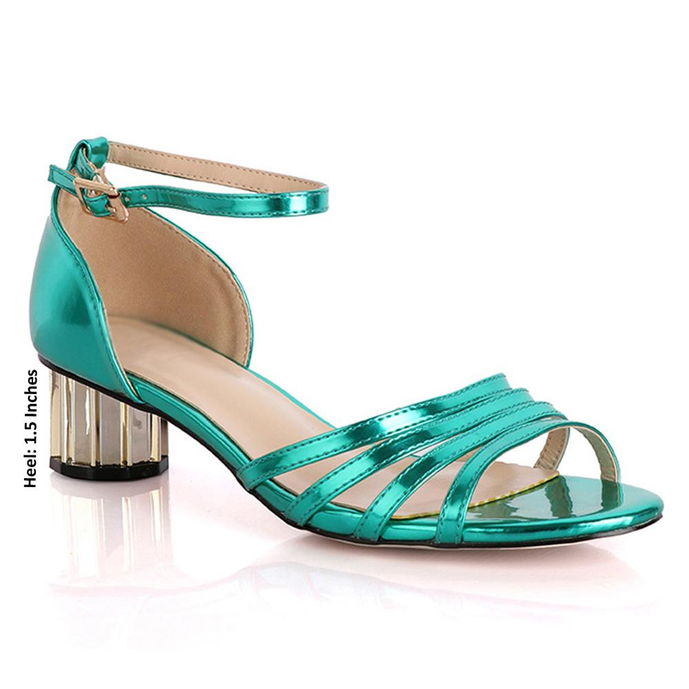 Green Marcuzzi Leather Low Heel