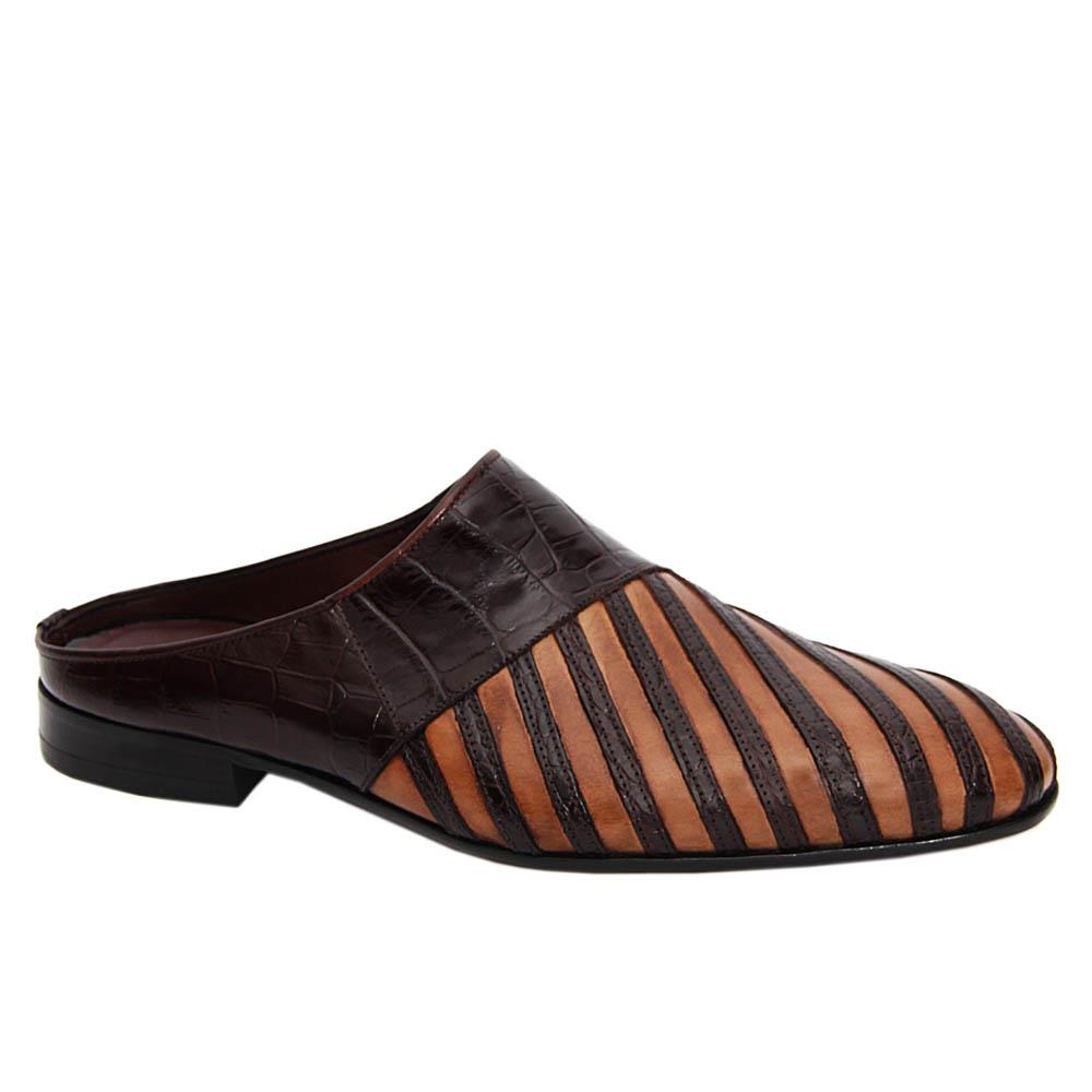 Coffee Brown Icon Italian Leather Half Shoe