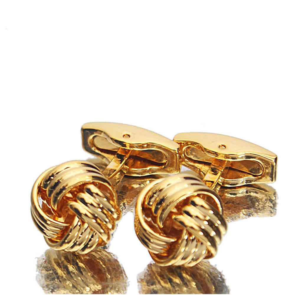Classic Gold Stainless Steel Cufflinks