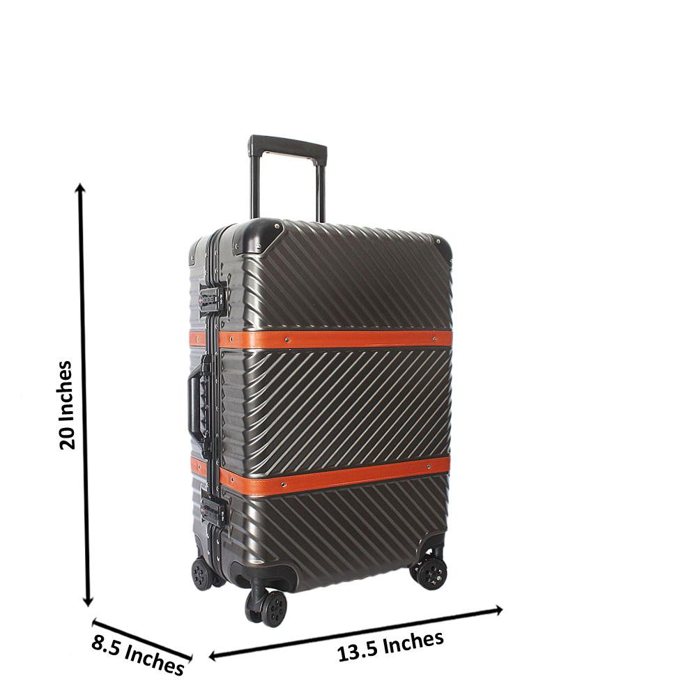 Metallic Gray 20 Inch Hardshell 4 WheelSpinnerCarry On Luggage