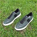 Green Donato Italian Leather Sneakers