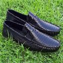 Black Maurizio Patent Italian Leather Drivers Shoe