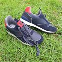 Navy Red Bolt Club Suede Leather Sneakers