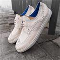 Reed Off White Leather Brogue Sneakers