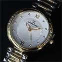 Daniel Klein Classic Silver Gold Studded Stainless steel Ladies Watch