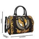 Anne Black Fabric Boston Handbag
