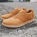 Brown Bradstreet Fabric Leather Sneakers