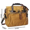 Brown Water Proof Fabric Leather Mix Dual Briefcase