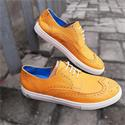 Reed Yellow Leather Brogue Sneakers