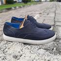 Reed Navy Leather Brogue Sneakers