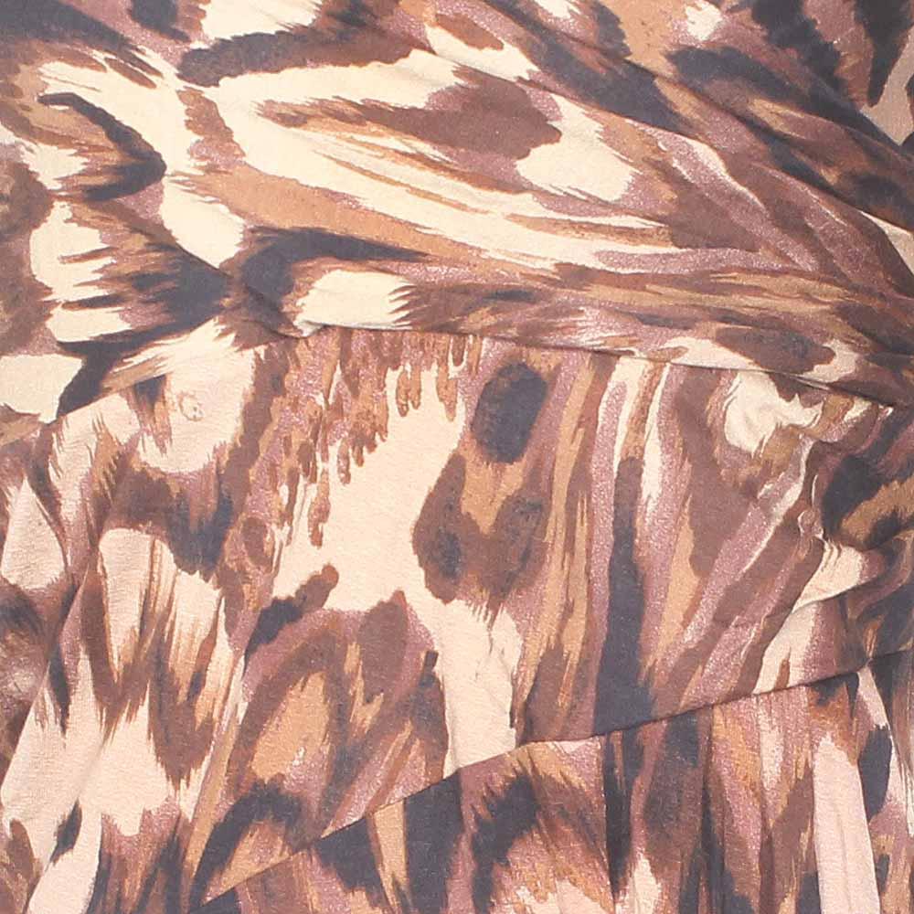 Buy Peruna-Brown-Animal-Print-Ladies-Dress-Uk-8 - The Bag Shop Nigeria 337b96399e609