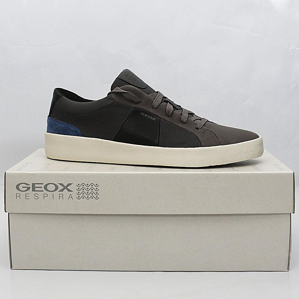brand new 0b2d6 f59ba Buy Geox-Respira-Gray-Fabric-Leather-Sneakers - The Bag Shop ...