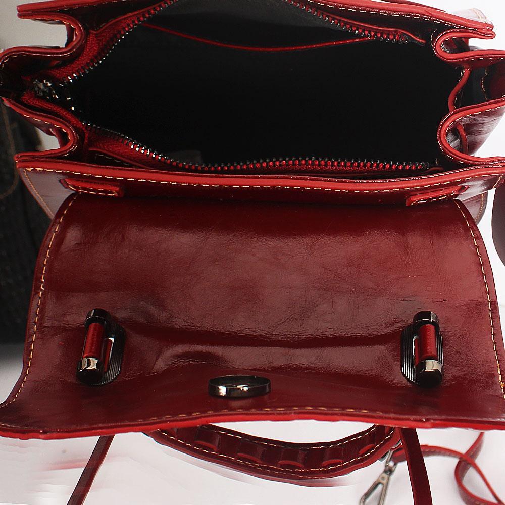 60e72625a Buy OxBlood-Fiona-Embossed-Shining-Montana-Leather-Mini-Top-Handle ...