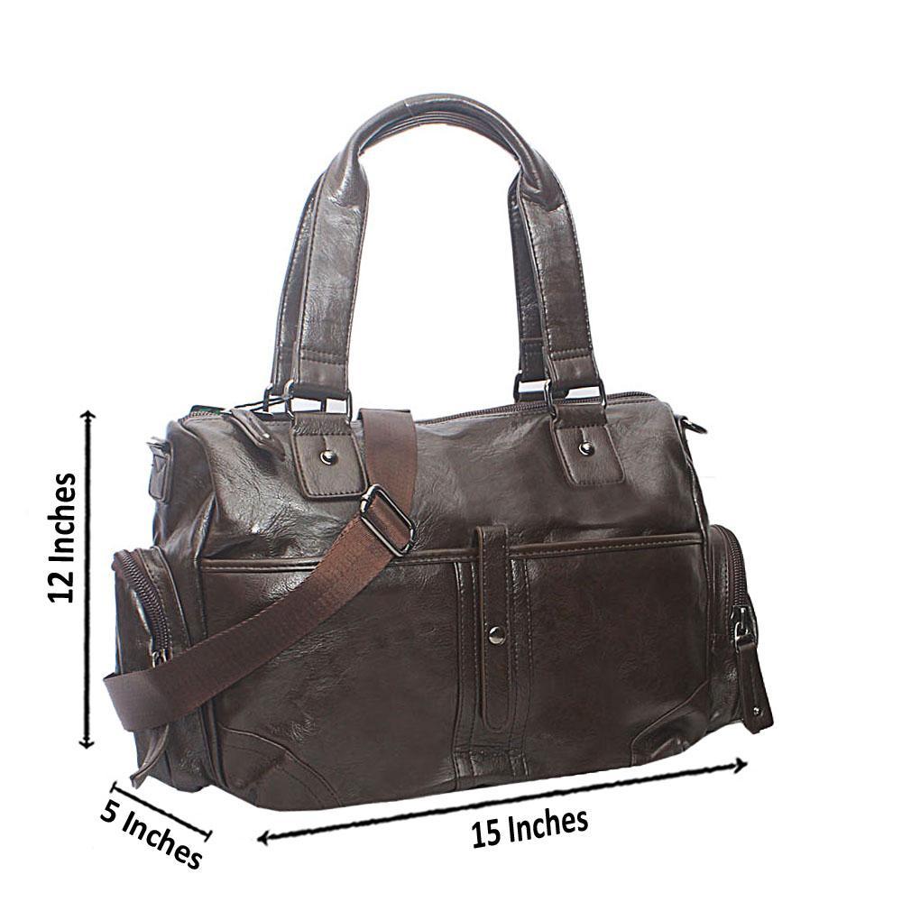 bc447feebff8 Buy Casania-Coffee-Covered-Zip-Overnight-Travel-Bag - The Bag Shop Nigeria