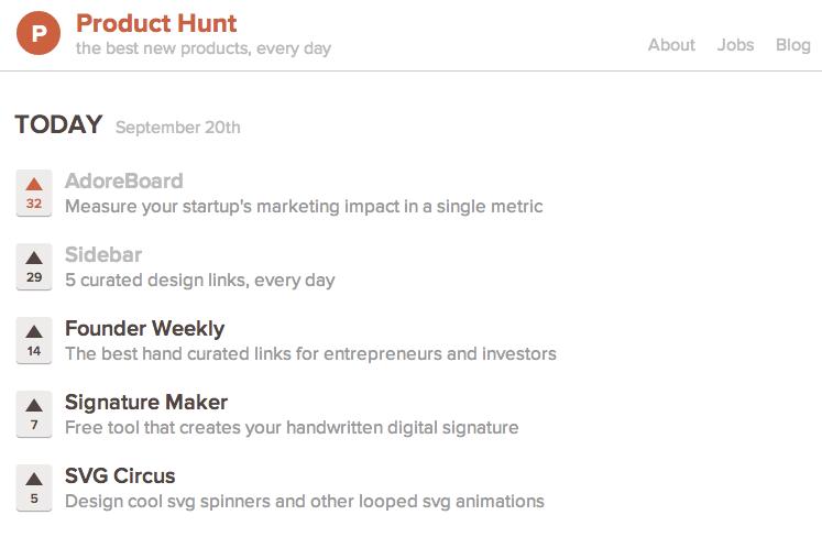 adoreboard-product-hunt