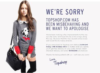 A querida da Topshop …