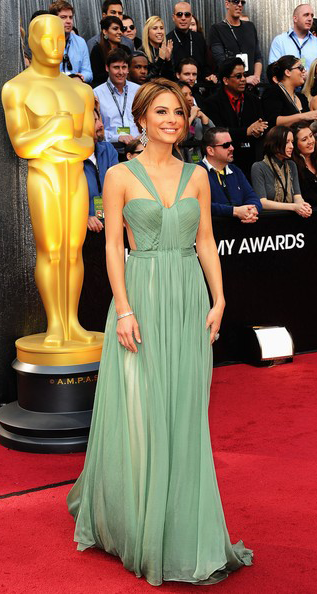 Os Melhores Vestidos dos Óscares 2012