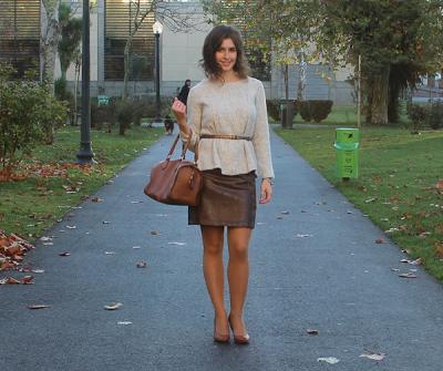 Leather Skirt + Knitwear | 1 Skirt, 4 Looks