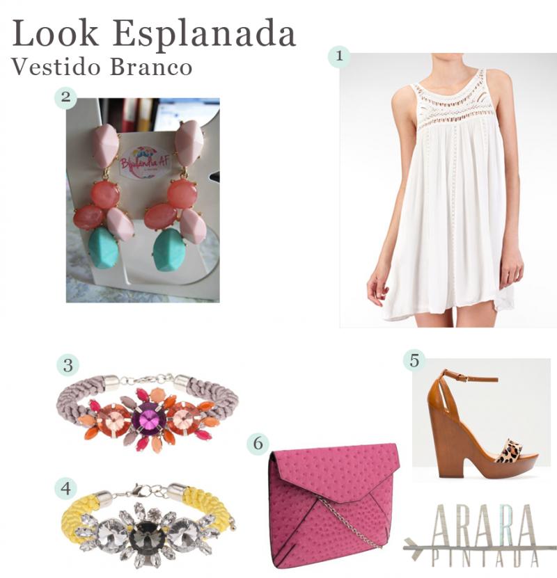 Look Esplanada | Vestido Branco