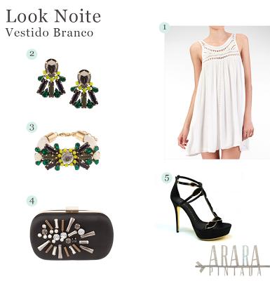 Look Noite | Vestido Branco