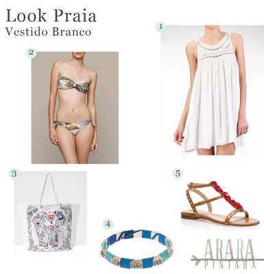 Look Praia | Vestido Branco