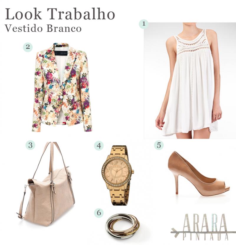 Look Trabalho | Vestido Branco