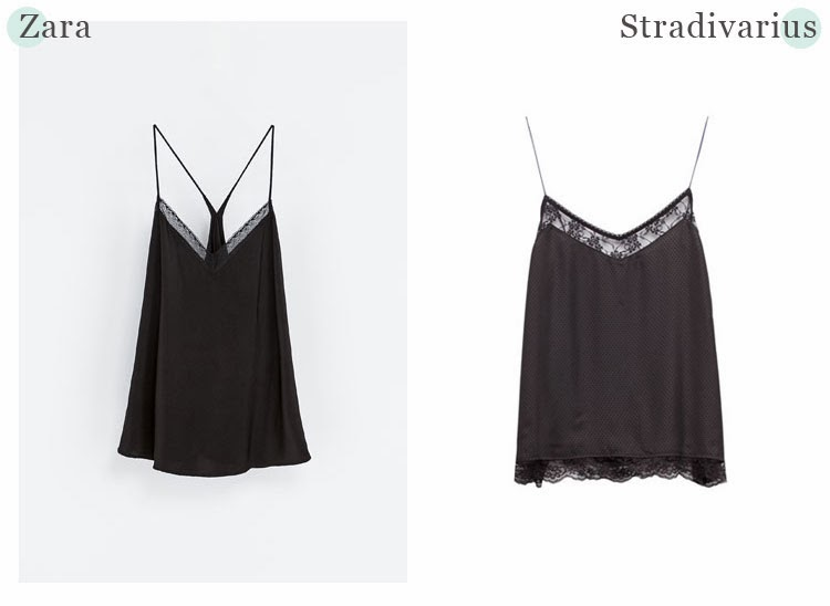 Lingerie Top | Zara vs Stradivarius