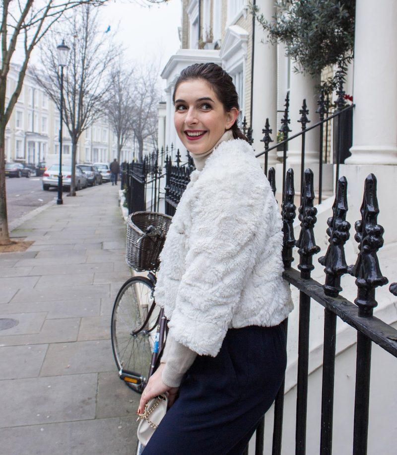 Faux Fur & Culottes | LOOK