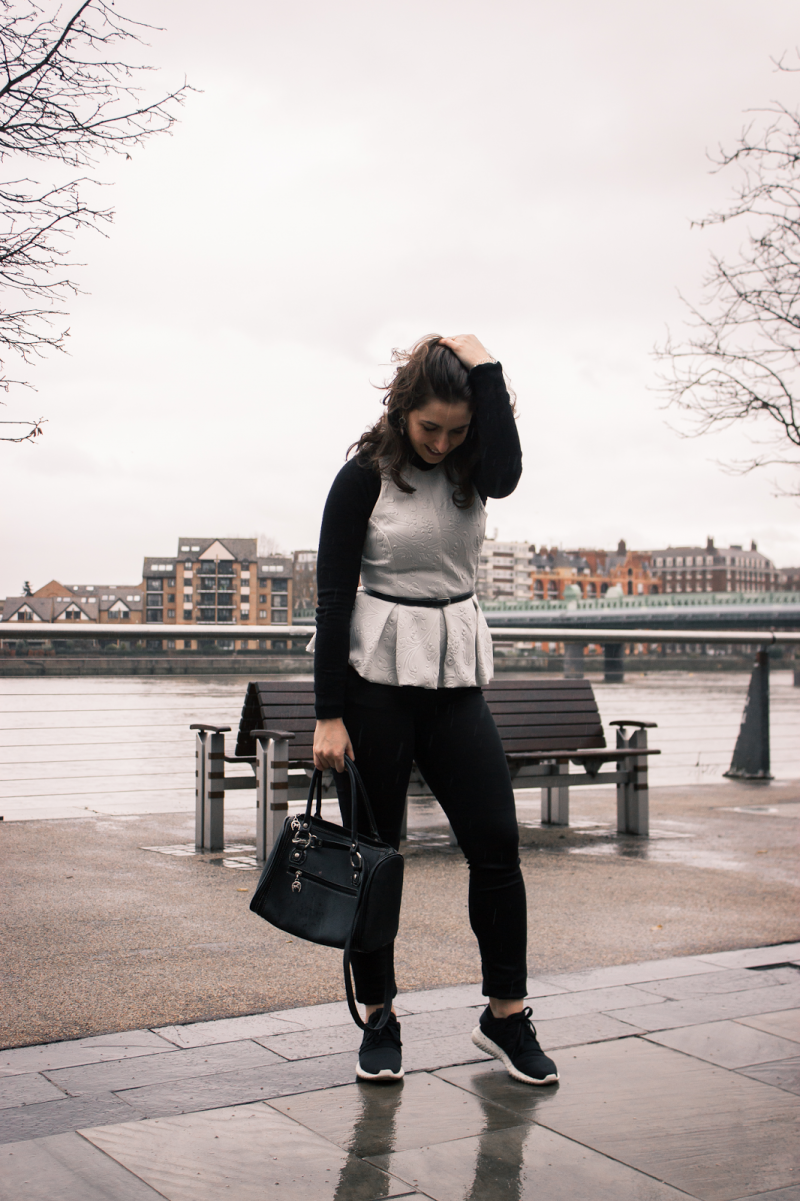 Peplum & Tubular Sneakers   |  Look