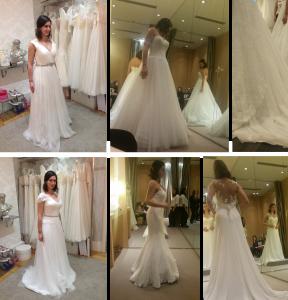 first time I wore a wedding dress