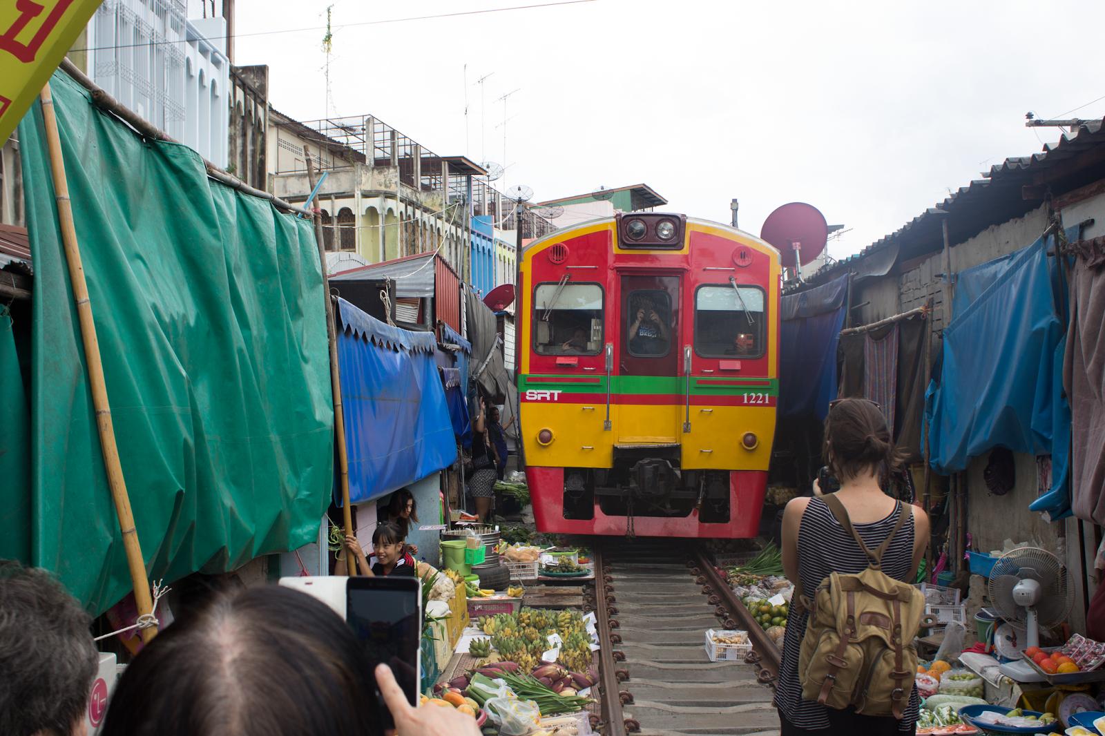 Bangkok guide train market