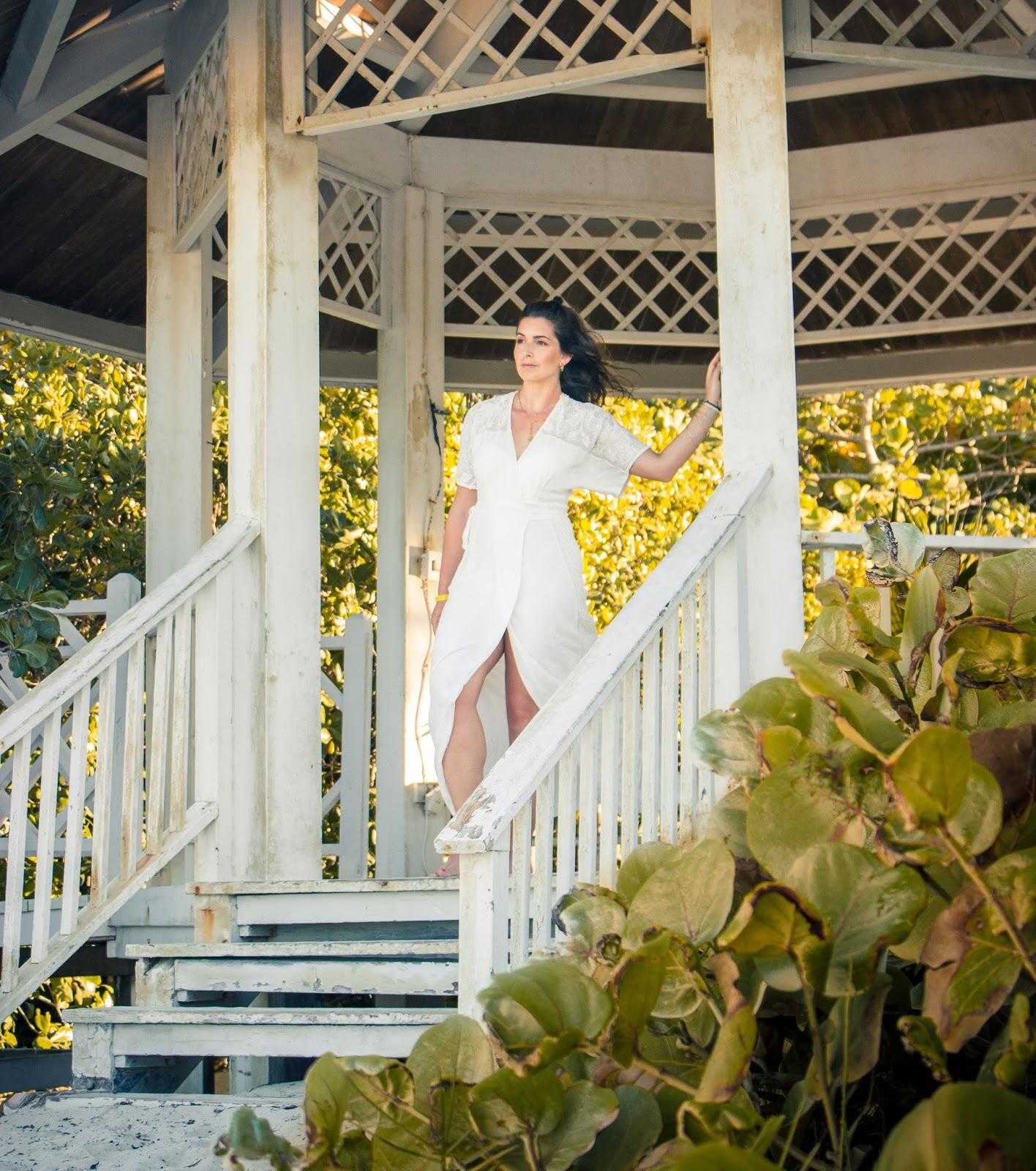 WHITE LONG KIMONO | SUMMER LOOK