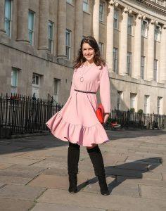 Mahrla Pink Ruffled Dress
