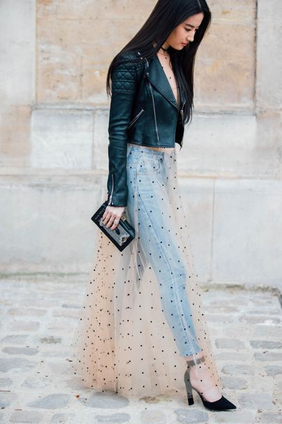 Trend: How to wear dresses over pants?