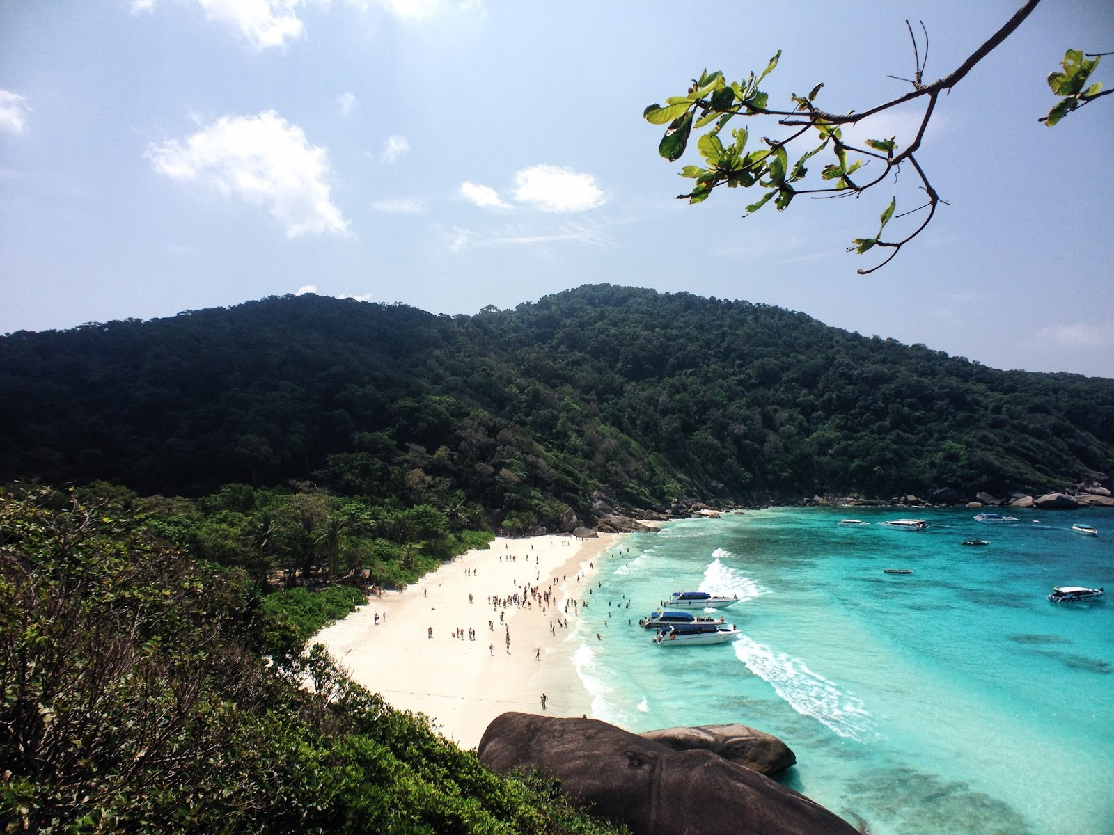 THE SIMILAN ISLAND view
