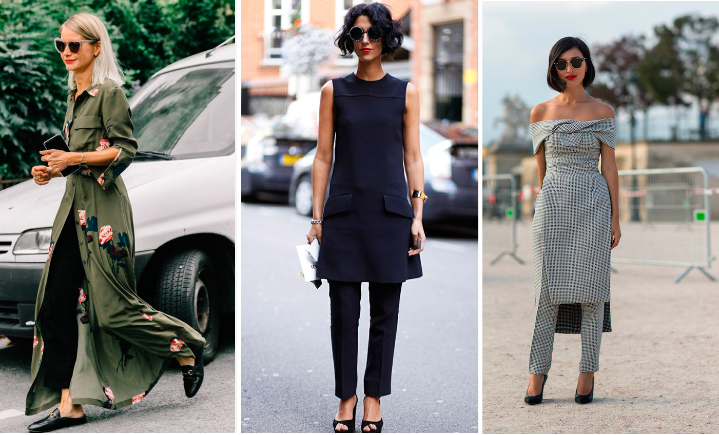 StreetStyle - Dress Over Pants Inspiration