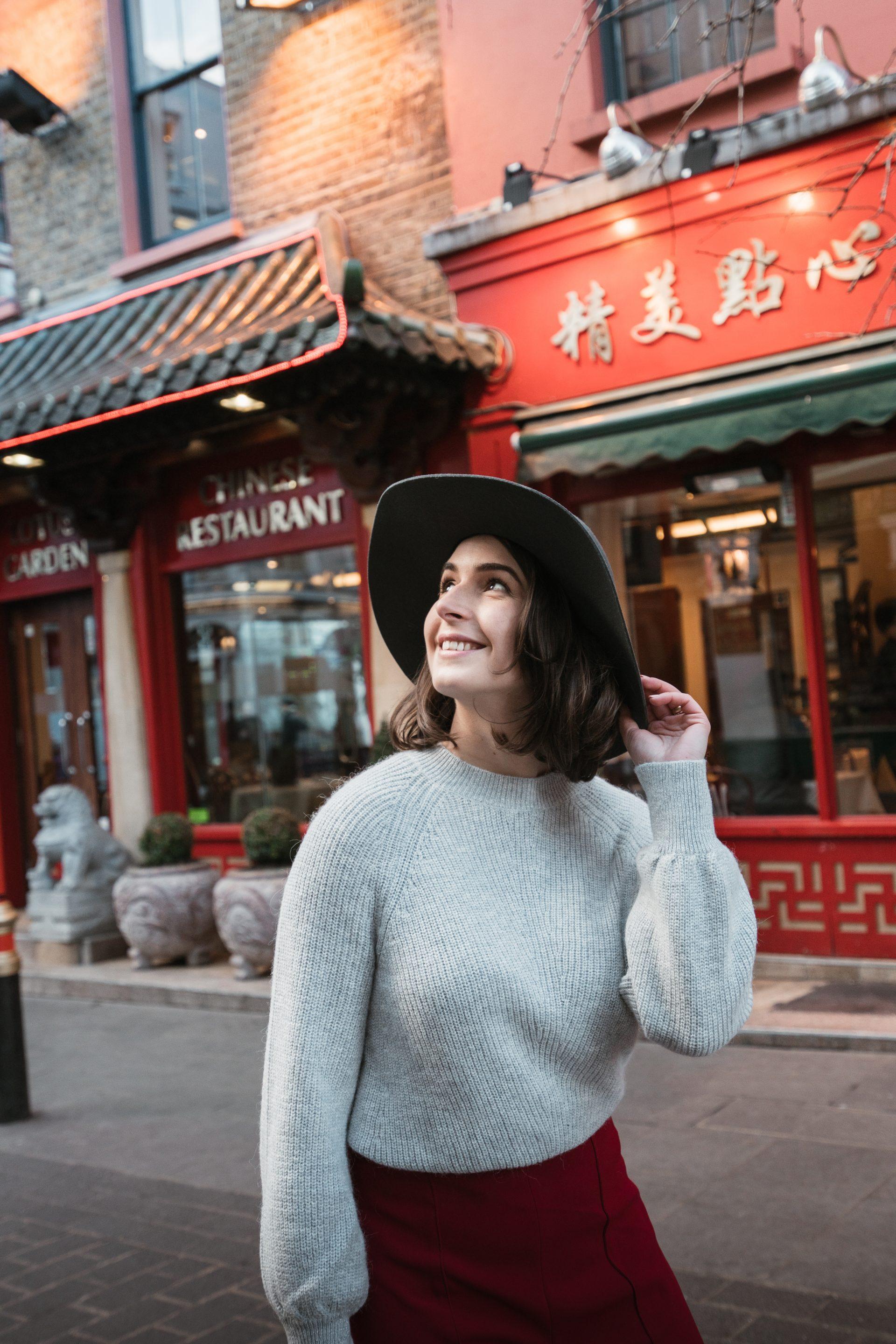 Grey look at China Town