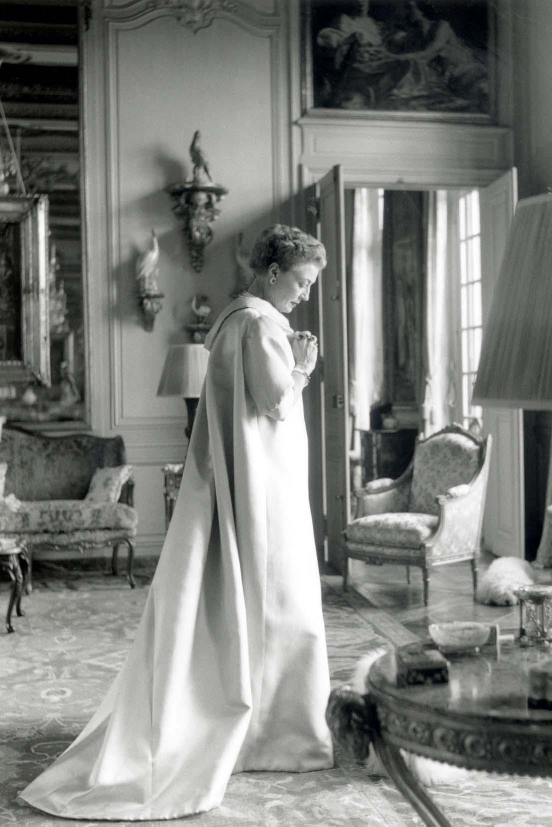 Mona Bismark wearing Balenciaga Gown