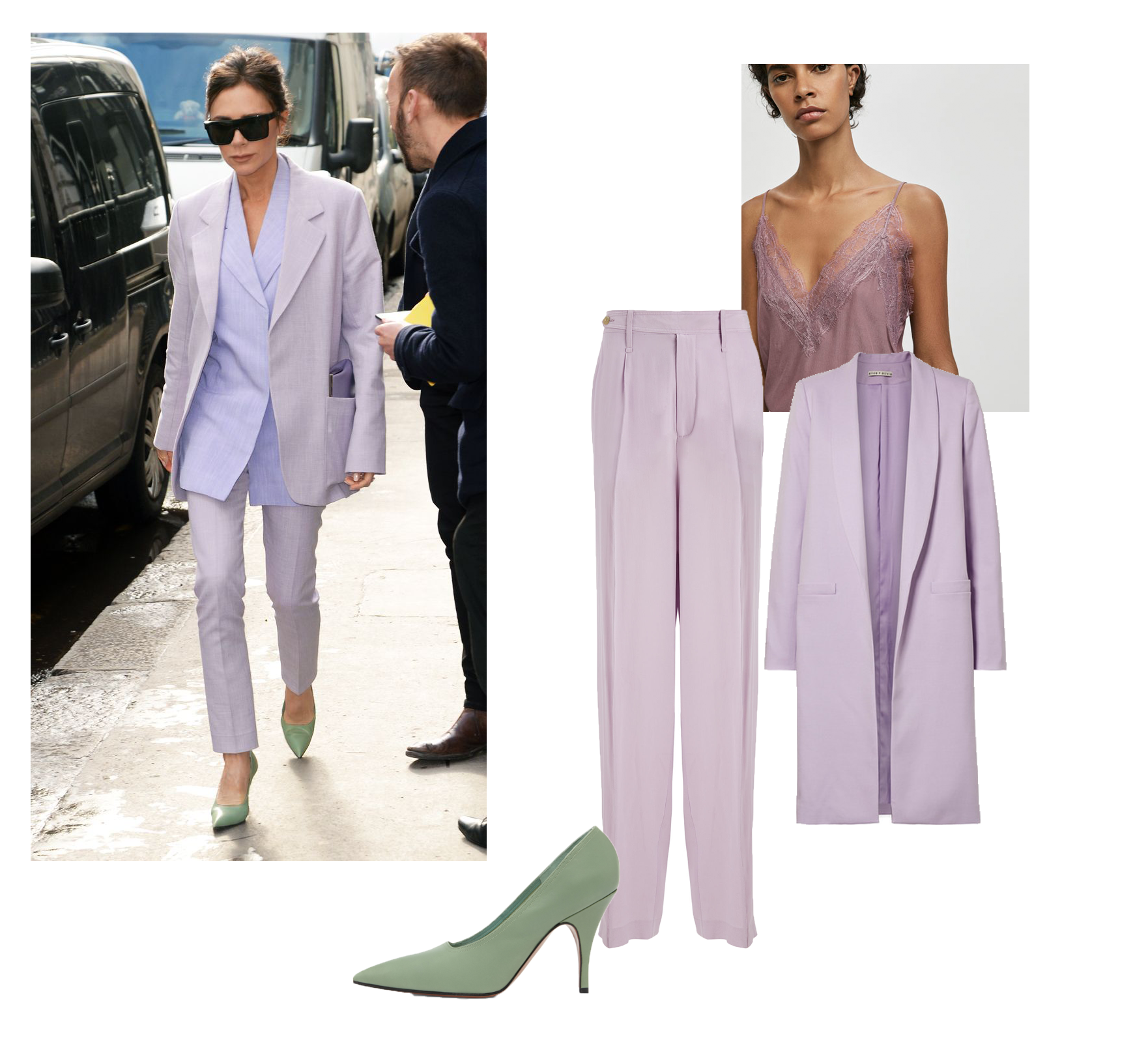 Victoria Beckham lilac full look