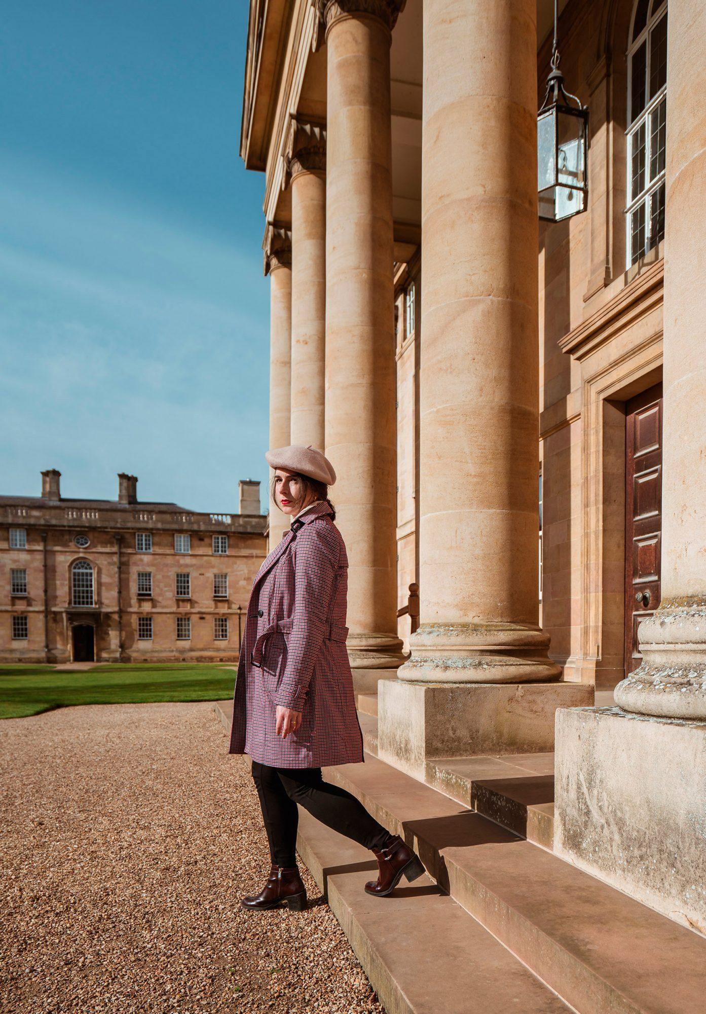 Double-coat look Stradivarius Houndstooth Trench-coat Cambridge