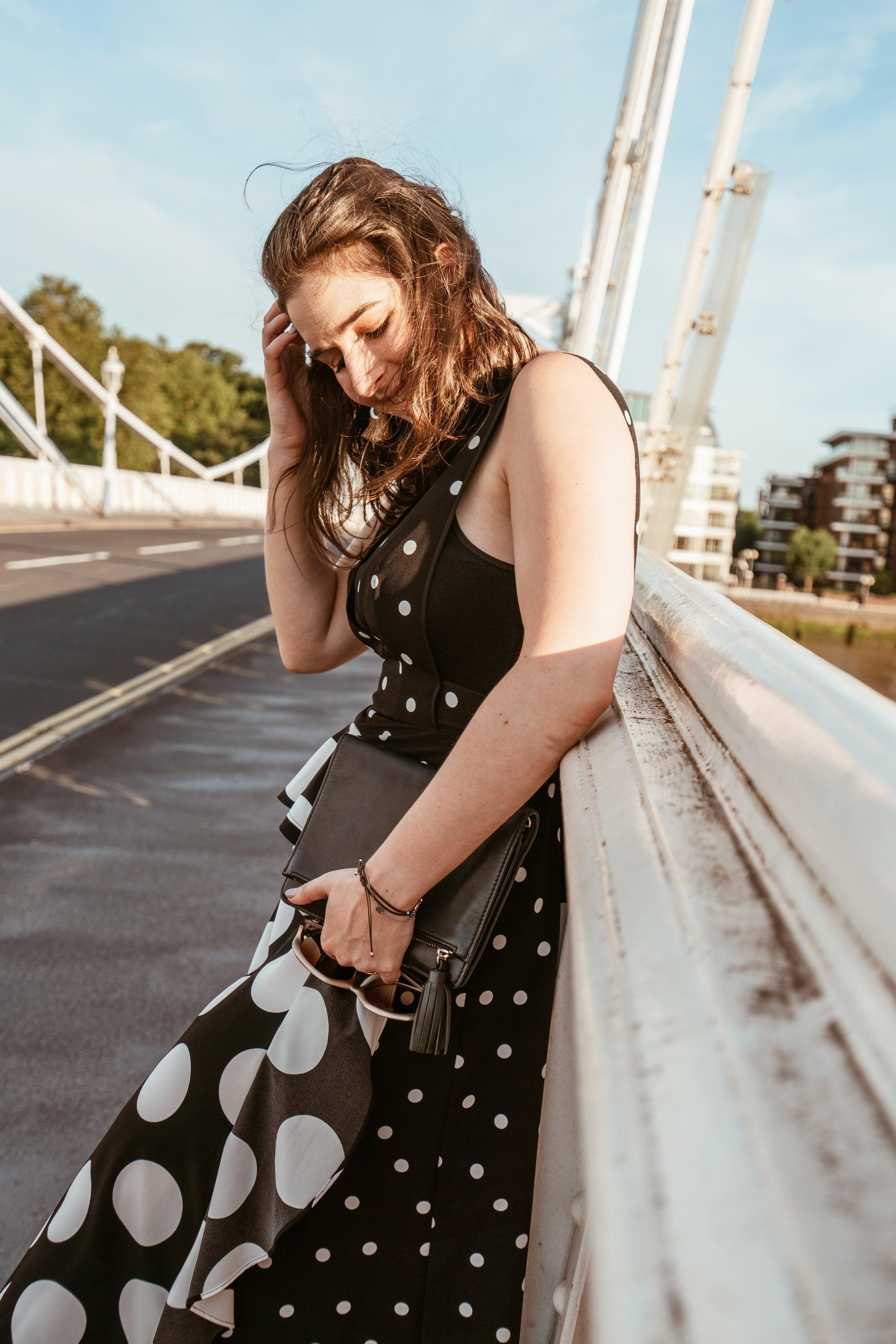 Arara Pintada by Marisa Oliveira wears Polka Dot Dress Topshop