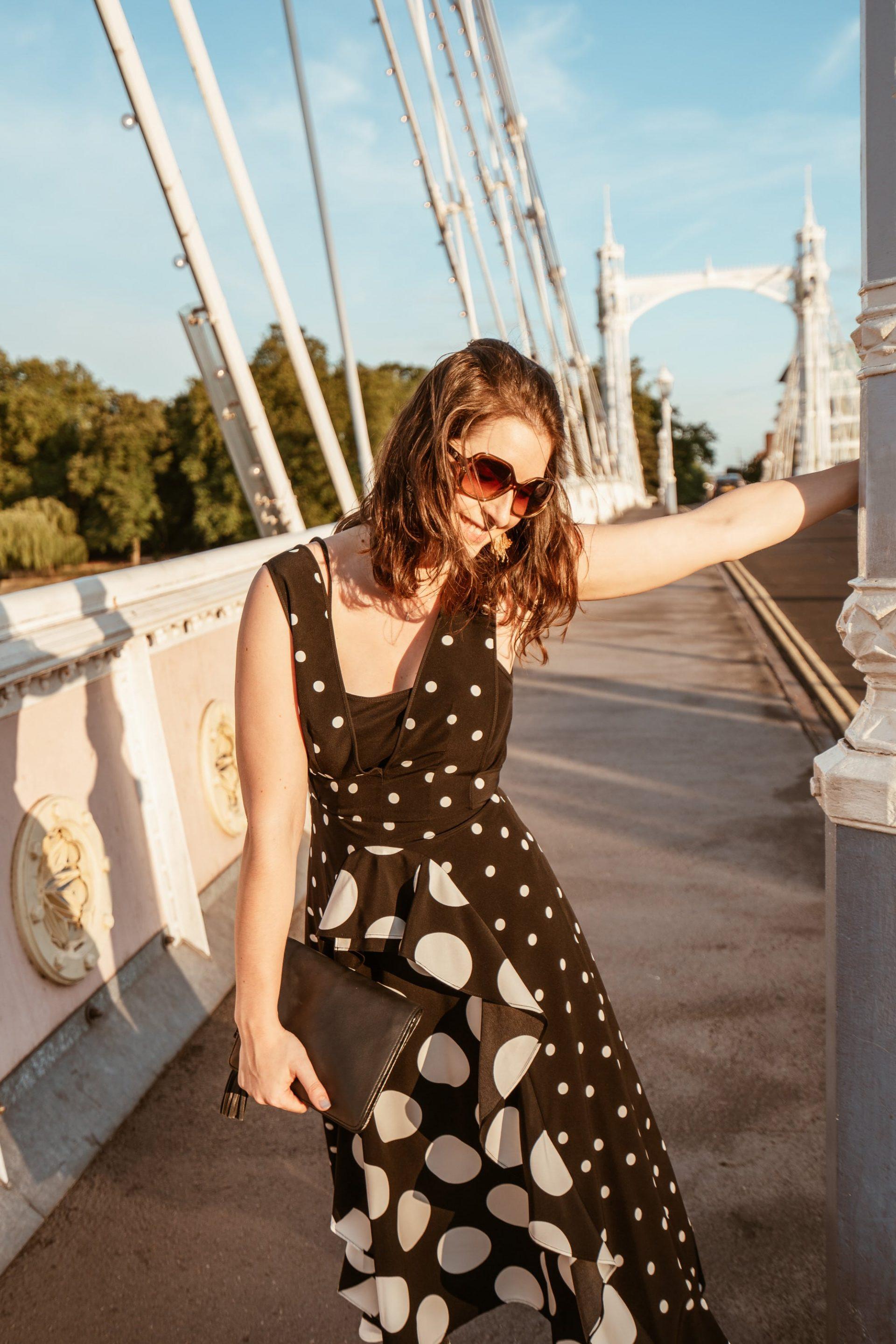 Polka Dot Dress Topshop Black White
