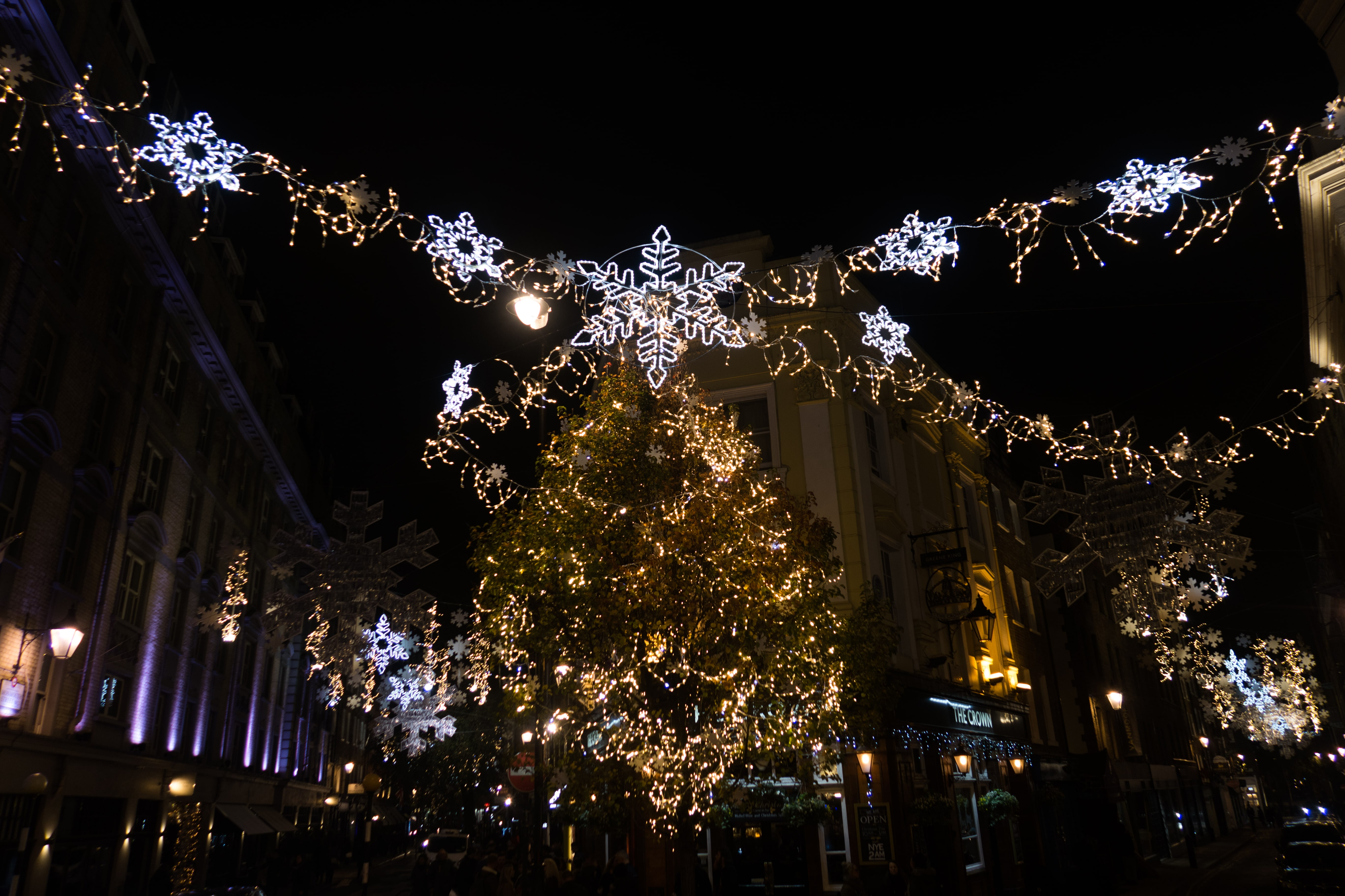 Seven dials lights during Christmas Season at Covent Garden-2