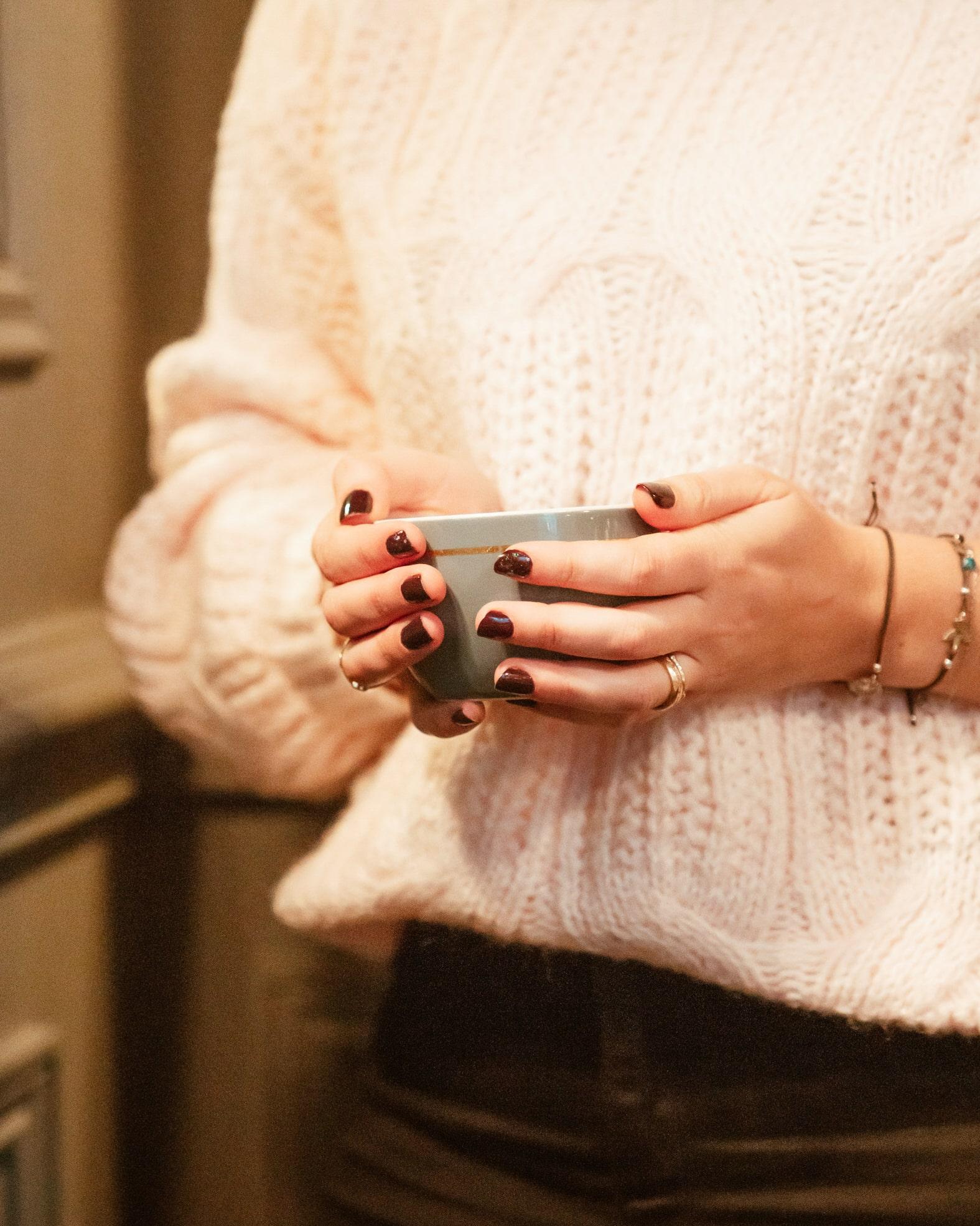 Detail of a Zara Soft Pink Knitwear
