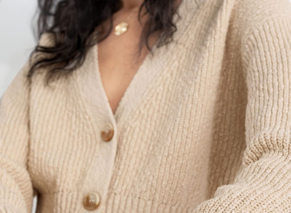 Cropped Textured Cotton Cardigan Other Stories