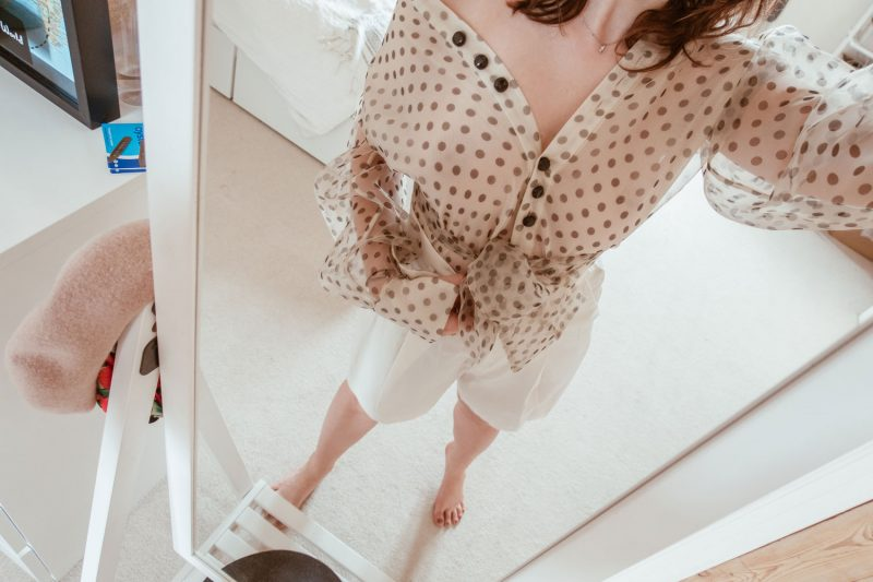 5 Looks With a Polka Dot Shirt