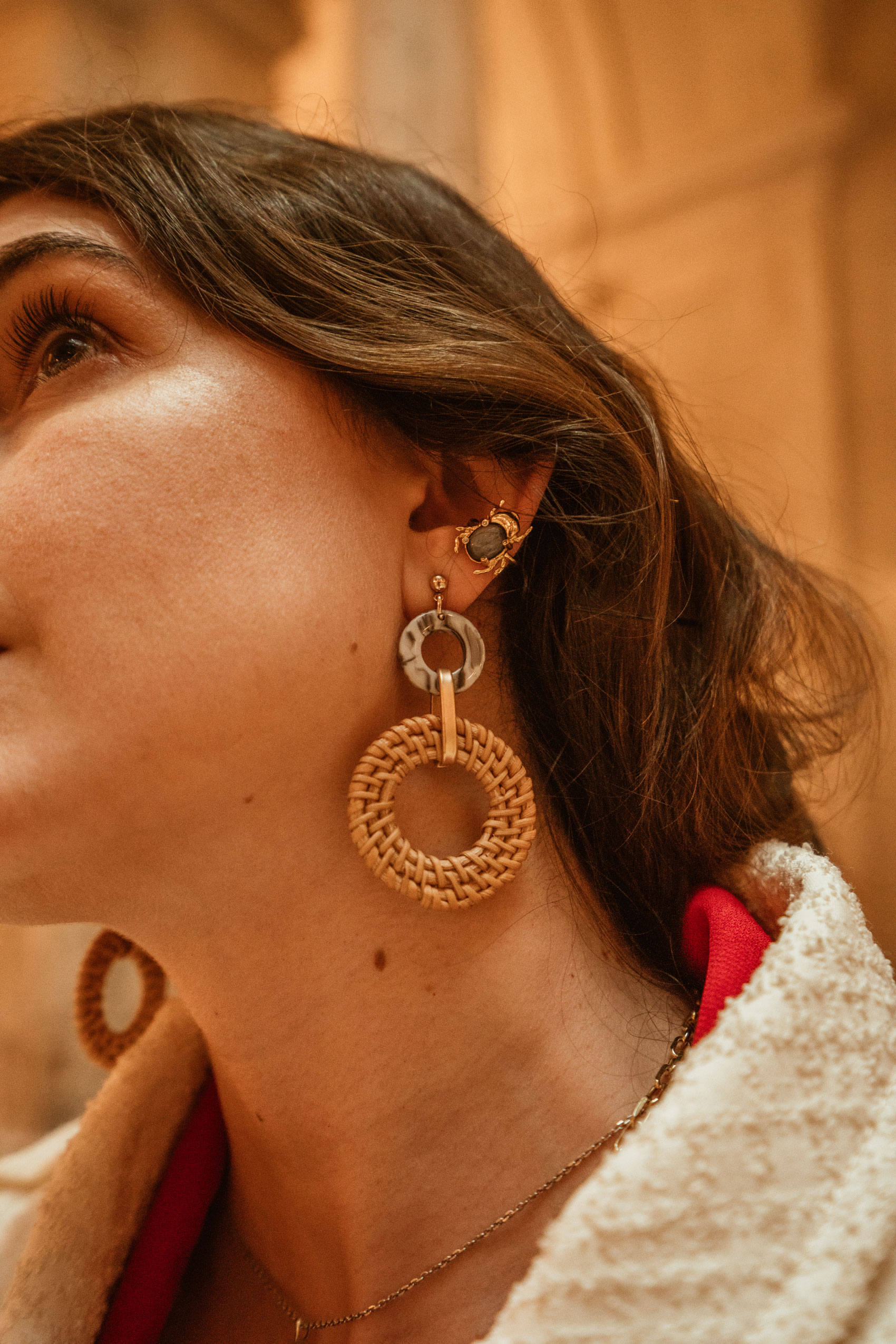 Primark long earring with Carolina Curado Ear Cuff