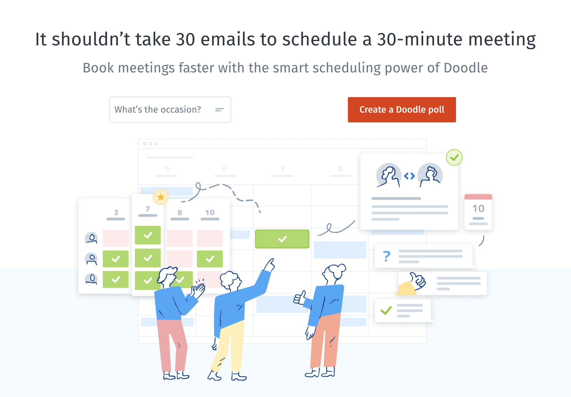 Online Meeting Scheduler Schedule Meetings In Minutes Doodle