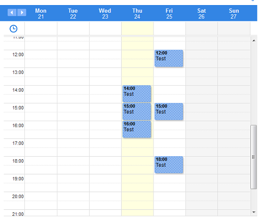 View of your calendar with Doodle's premium account membership when selecting dates