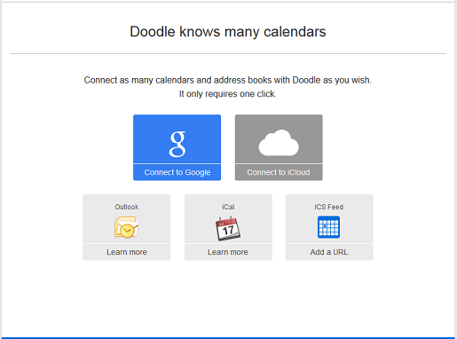 Connect your online calendars with a Doodle premium account